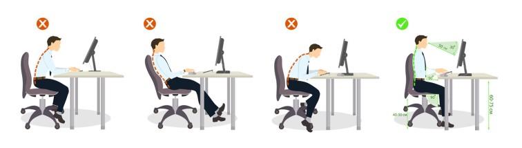 Sitting posture set.